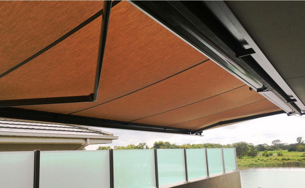 image of brown-folding-arm-awning
