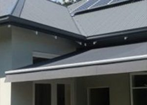 gray folding-arm-awning