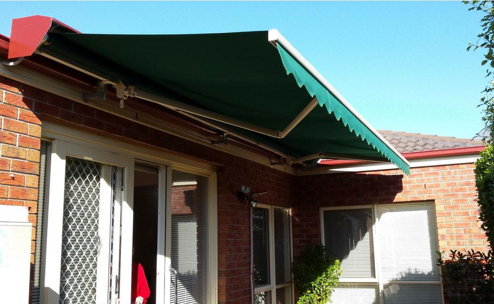 image of green-folding-arm-awning