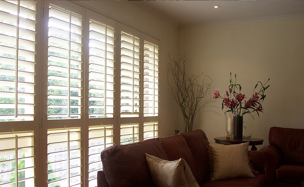 image of living room plantation shutter