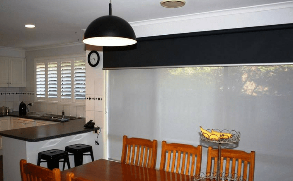 photo of sunscreen roller blinds
