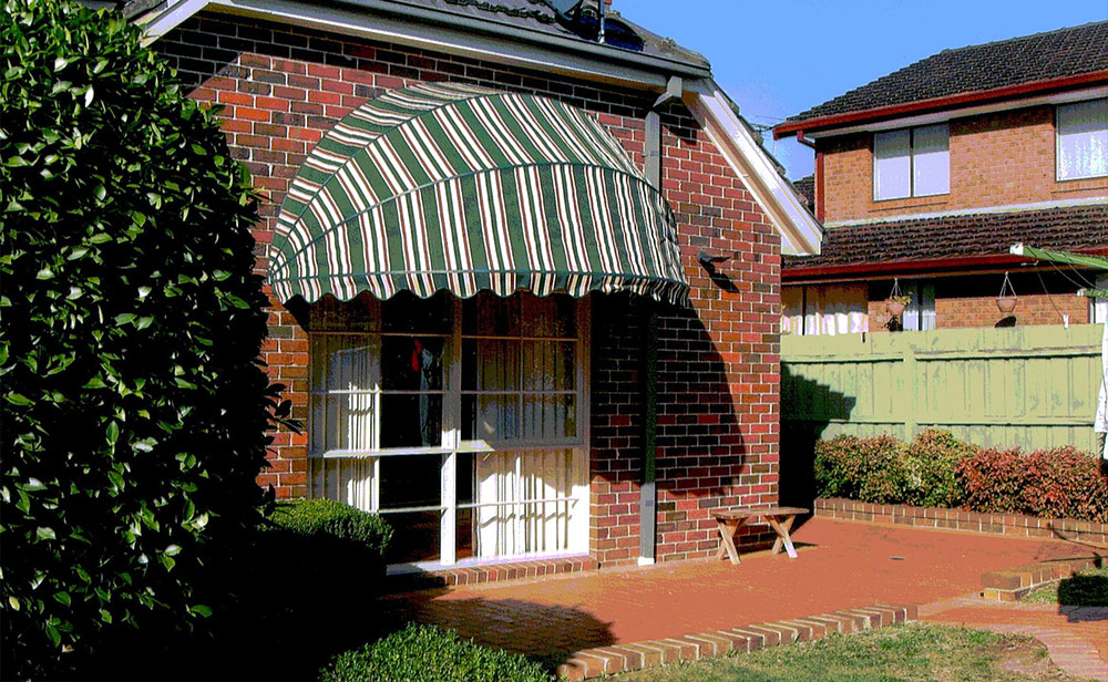 image of green-bow-awning
