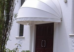 bow awnings white