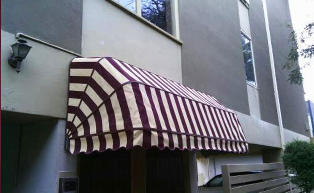 image of maroon-Dutch-Hood-Awnings